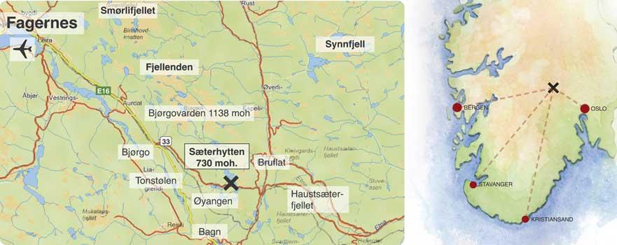kart over etnedal Vei/kart — ValdrestuFritidsleiligheter kart over etnedal